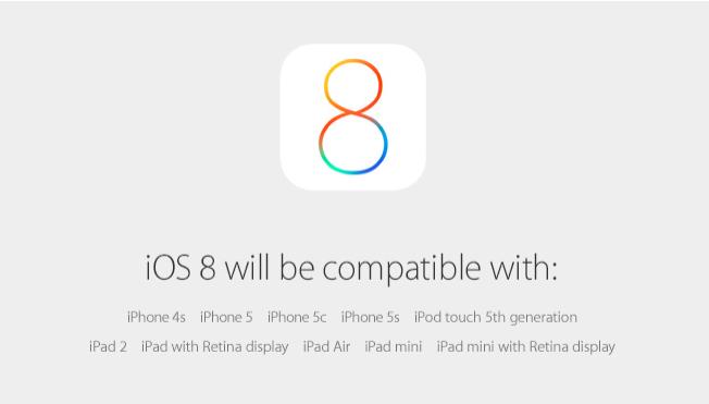 iOS 8 apare pe 17 septembrie 2014